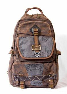 791420fd0b Canvas Hiking Travel Vintage Military Backpack Messenger Bag Rugged School  .  49.95