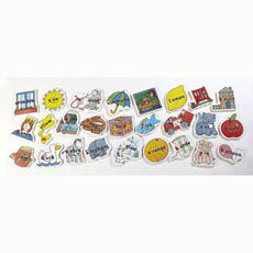A #superb #selection of 26 wooden puzzles that help #children become #familiar with words and their initial letters. #british #england #derby #madeinengland #madeinbritain
