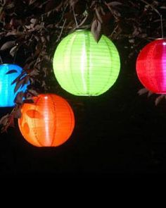 Outdoor party lights.