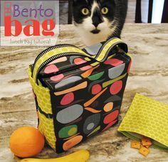 Bento Bag - a lunch bag sewing tutorial                                                                                                                                                                                 Mais