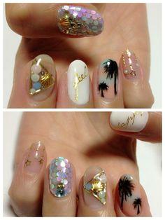 summer nails, #nailart #summer love them