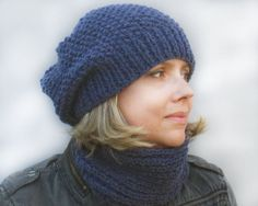 Ready to Ship Slouchy Beanie Hat and Infinity by HatsByNataBilay