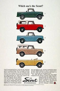 1964 International Scout Ad Red Clay Soul
