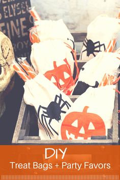 Send Halloween guests home with an adorable custom party favor or treat bag