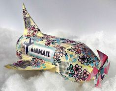 Upcycle a Plastic Bottle into a Paper Mache Airplane