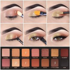 Natural Eyeshadow Makeup Tutorials Winter Gold Pink Eye Looks Want your eyes to glow while using minimal makeup? Check out these stunning natural eye makeup tutorials without caking on products. Eyeshadow Tips, Natural Eyeshadow, Natural Eye Makeup, Eyeshadow Makeup, Purple Eyeshadow, Eyeshadow Palette, Maybelline Eyeshadow, Bronze Eyeshadow, Glitter Eyeshadow