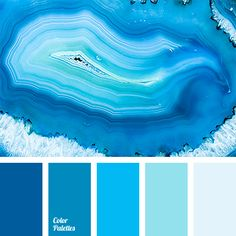 Monochrome shades of blue ranging from pale to dark, almost deep blue color…