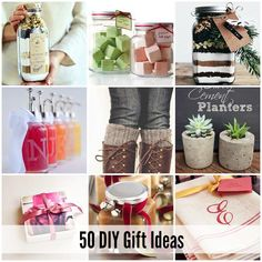 50 DIY Gift Ideas | theidearoom.net