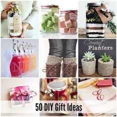 50 DIY Gift Ideas for Christmas|theidearoom.net