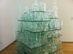 Glass Stack installation Auckland Art Gallery, Glass Vase, Furniture, Home Decor, Decoration Home, Room Decor, Home Furnishings, Home Interior Design, Home Decoration