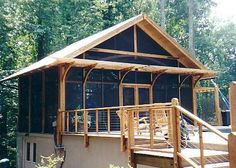 outdoor screen house | Timber Screen Poolhouse
