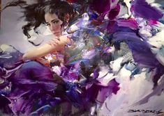 Иван Слаивнский Contemporary Artists, Amethyst, Texture, Crystals, Abstract, Anime, Crafts, Color, Modern Paintings