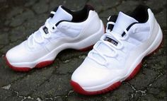 735af5f982e46f Jordan Brand will release the Air Jordan 11 Low White Black-Varsity Red on  Saturday