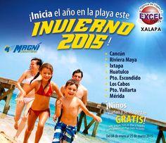En Enero, Febrero y Marzo los niños vuelan y se hospedan GRATIS en Playas Nacionales!   Agencia de Viajes en Xalapa Excel Tours