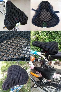 [Visit to Buy] MTB Bike Saddle of Bicycle Parts Cycling Seat Mat Comfortable 3D Honeycomb Mesh Cushion Soft Seat Cover For Bicycle Seat Saddle #Advertisement