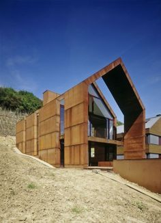 Nice steel skin at the Wurth House in Wormeldange by Luxembourg based Hermann & Valentiny and Partners