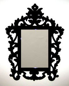 Designed by team Paisley Fox, we are pleased to introduce our new Acrylic Mirrors Frames. £75.00        #Housewares, #Home, #Decor #Mirror #acrylic mirror #wall mirror #baroque frame #rococo frame #laser cut mirror #baroque #gilt