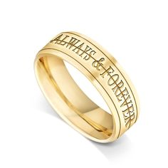 "House of Williams 18ct Yellow Gold Gents 3-Piece 6mm Spinning Wedding Ring with 2 x 2mm Rotating Bands Featuring the Words ""Always & Forever"" http://www.howweddingrings.co.uk/Products/11286-house-of-williams-18ct-yellow-gold-gents-3-piece-6mm-spinning-wedding-ring-with-2-x-2mm-rotating-bands-featuring-the-words-always-forever.aspx £1,117.00 #weddingring"