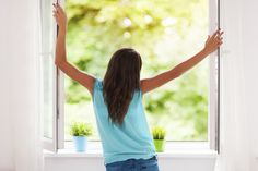 Inhale..exhale...enjoy fresh air everyday by opening your windows.