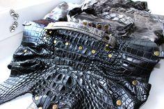 4lapki сумка женская натуральная кожа крокодил ручная работа / genuine leather handbag crocodile hsndmade