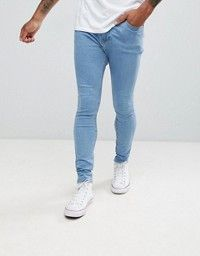 Shop the latest ASOS DESIGN extreme super skinny jeans in mid blue trends with ASOS! Tight Jeans Men, Superenge Jeans, Blue Jeans, Super Skinny Jeans, Skinny Fit, J Crew Men, Asos, Mode Online, Mens Fashion