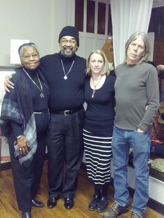 Kay and Steve Rye seen on the right, owners of Sole Survivor Leather and Sole Survivor Art Gallery, with friends.