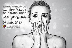 Illustration pour la journée internationale contre l'abus et le trafic illicite des drogues.  http://www.personal-art.fr