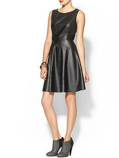 Ark & Co. Perforated Vegan Leather Dress | Piperlime