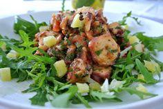 ... Bonjour Alsace: Oktopus-Salat - ein wundervolles schnelles Sommeressen mit zitroniger Note