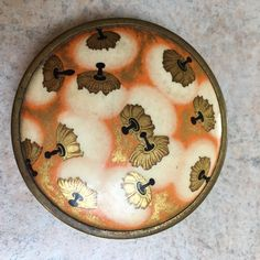 Vintage 1930s Art Deco Coty French Enamel ? Nouveau Gardenia GT Compact Powder in Collectables, Vanity, Perfume & Grooming, Cosmetic Compacts | eBay