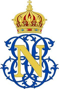 Imperial Monogram of Napoleon, Prince Imperial of France - Louis-Napoléon Bonaparte (1856-1879) — Wikipédia