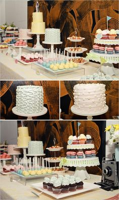 retro deserts, 50s Style Wedding Ideas The perfect table setup!!!!