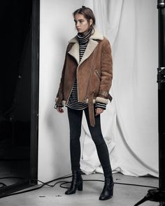 54baf218ba The Hawley Oversized Shearling Biker  Crafted in luxuriously British  shearling