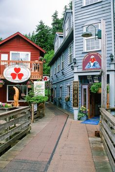 Creek Street - Ketchikan, Alaska. Visited with my wife one of the times while on Alaskan cruise in Ketchikan, Alaska