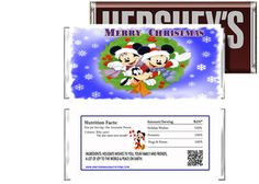 Disney Mickey Mouse Merry Christmas Candy Bar Wrappers Party Favors
