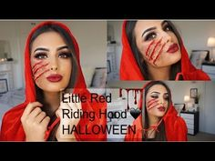 The Little Red Riding Hood HALLOWEEN Makeup Tutorial 2016 - YouTube