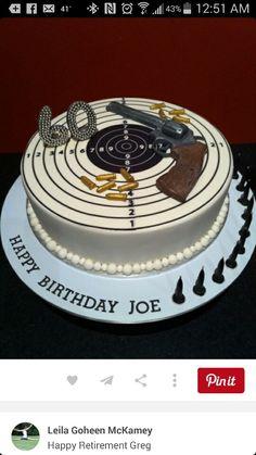 Gun cake for man