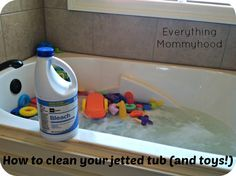 Cleaning Tip: How to Clean Your Jetted tub and Bath Toys