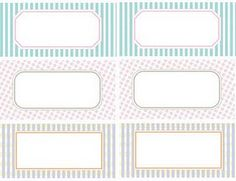 all kinds of free printable labels