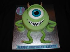 Mike Wazowski (Monster Inc) Fondant Cake - (Feb 2014) Here is my version of Mike W. Hope you like it!! xMCx
