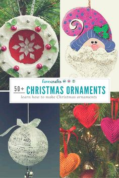 Some cute and classic DIY Christmas ornament ideas!