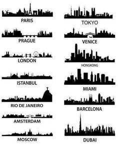 skylines around the world