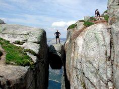 the kjeragbolten boulder | Kjeragbolten, Norway