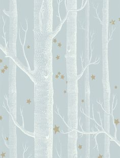 COLE & SON TAPET WOODS & STARS , POWDER BLUE-103/11051