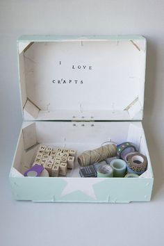 Caja con tapa con dos cajas de fresas recicladas   Manualidades