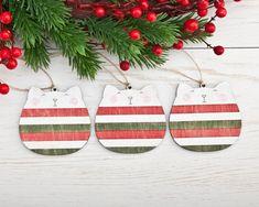 Katzen-Weihnachtsschmuck für den Baum. Zu finden auf Etsy.