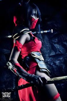 Crimson Akali League of Legends Cosplay