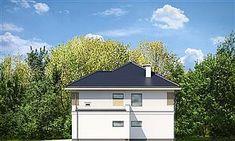 Elewacja prawa projektu Tytan 4 Morden House, New Builds, Home Fashion, Exterior Design, Townhouse, Gazebo, House Plans, Shed, New Homes