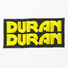 Just In store DURAN DURAN Logo ... check it out at a great price here http://apatchestore.com/products/duran-duran-logo-iron-on-embroidered-patch-3-8-9-5cm?utm_campaign=social_autopilot&utm_source=pin&utm_medium=pin