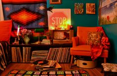 1960s interior orange - Google Search
